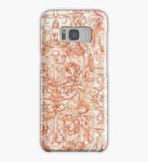 Autumn Peach Art Nouveau Pattern Samsung Galaxy Case/Skin