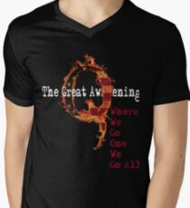 QAnon Storm The Great Awakening WWG1WGA by Scralandore Men's V-Neck T-Shirt