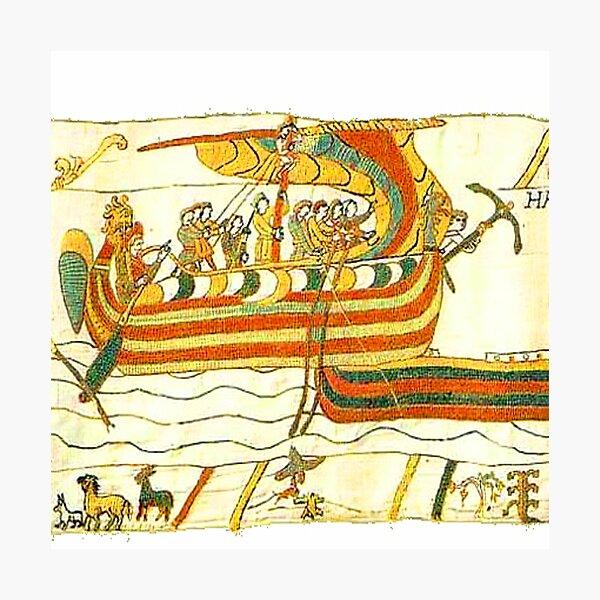 Bayeux Tapestry Viking Longship Normandy Art Photographic Print