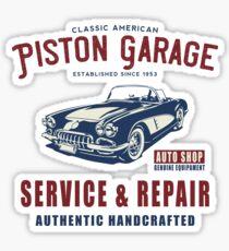 Vintage Garage Service Repair, T Shirt Original Design Sticker