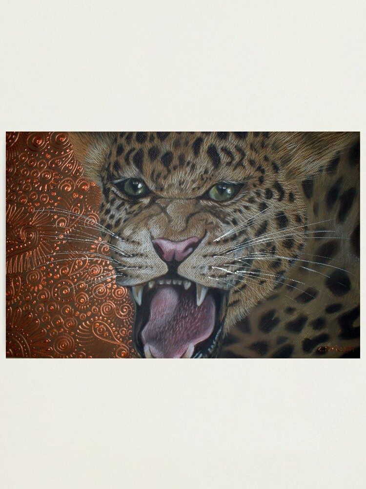 Alternate view of Leopard Attack Photographic Print