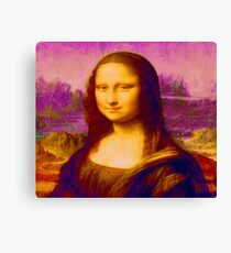 Mona Lisa in Pink da Vinci Renaissance Art Canvas Print