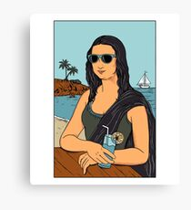 Mona Lisa Summer Canvas Print