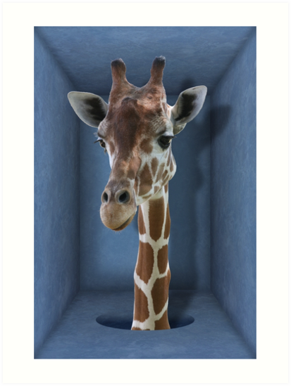 Studio Dalio - Introverted Giraffe Art Print