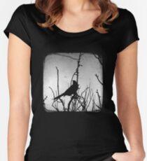 Wattlebird - Black Women's Fitted Scoop T-Shirt