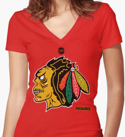 Chi Town Hockey Club Women's Fitted V-Neck T-Shirt