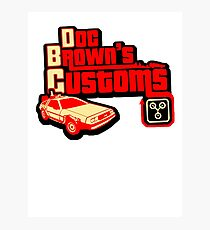 Doc Brown's Custom Photographic Print