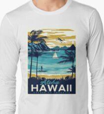 Weinleseplakat - Hawaii Langarmshirt