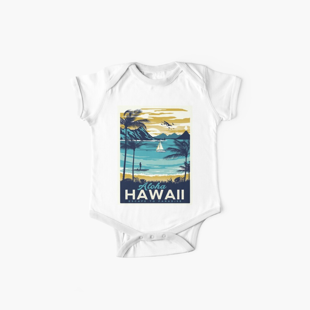 Vintage poster - Hawaii Baby One-Pieces