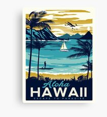 Vintage poster - Hawaii Canvas Print