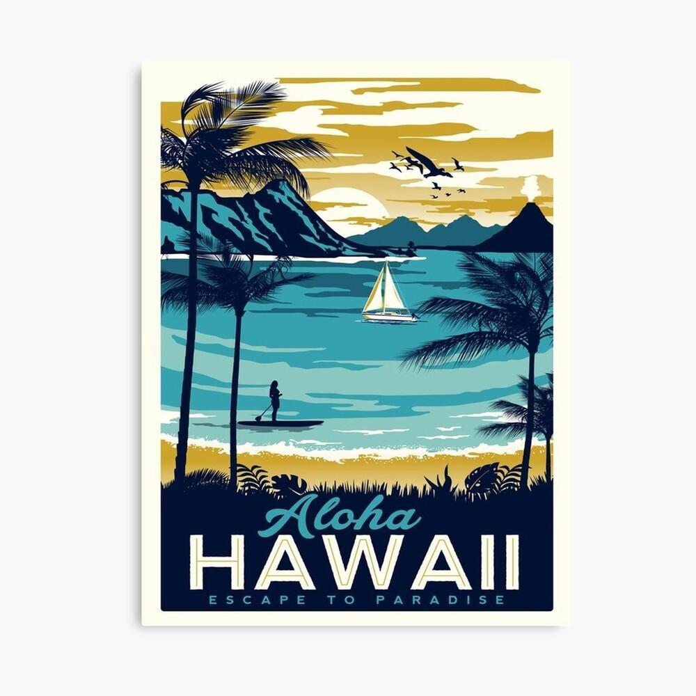 Cartel vintage - Hawaii Lienzo