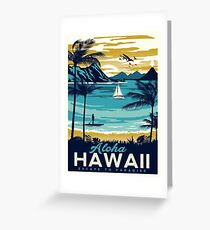 Vintage poster - Hawaii Greeting Card
