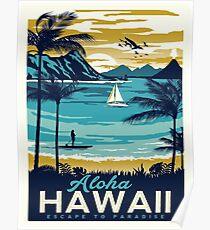 Weinleseplakat - Hawaii Poster