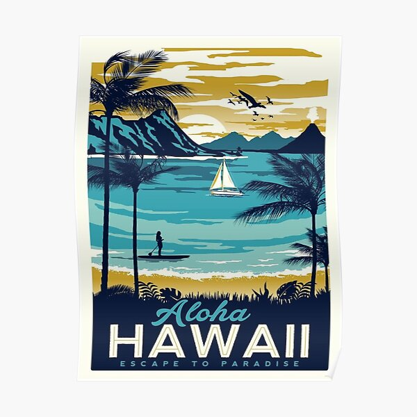 Vintage poster - Hawaii Poster