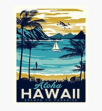 Vintage poster - Hawaii Photographic Print