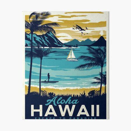 Vintage poster - Hawaii Art Board Print