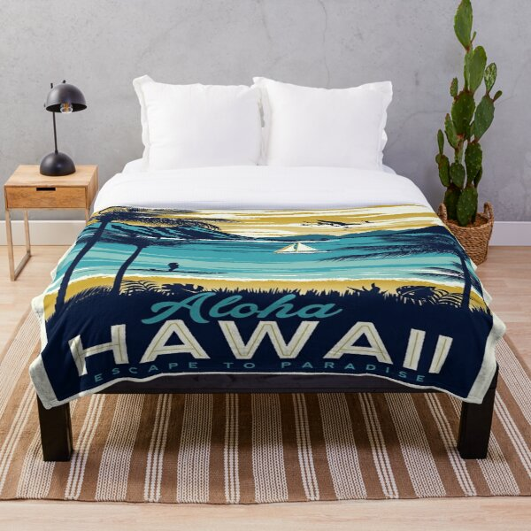 Vintage poster - Hawaii Throw Blanket