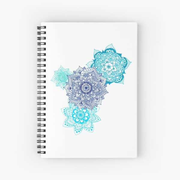 Quadruple Blue Mandalas Spiral Notebook