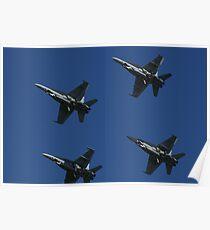 F/A-18A Hornet x4 Poster