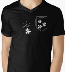 INSIDE OUTSIDE PUZZLE Men's V-Neck T-Shirt