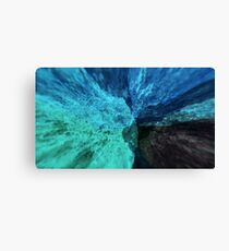 Abstract colorful explosion water rocks nature energy illustration  Canvas Print