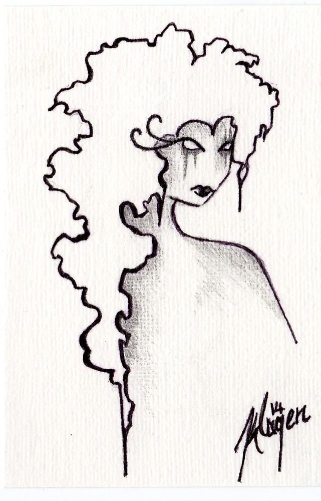 Albion- ACEO in Monochrome by KimsCurious