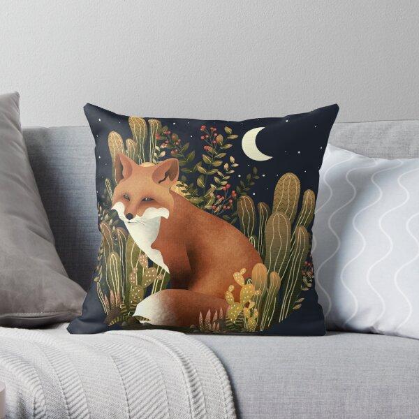 FOX IN THE NIGHT Throw Pillow