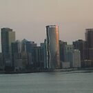 Aerial View, Twilight View, Jersey City, New Jersey by lenspiro