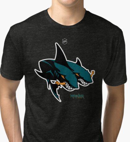 The 2 Headed Sharks From San Jose Tri-blend T-Shirt