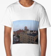 Aerial View, Twilight View, West Village, New York City Long T-Shirt