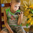 Cuba. Trinidad. Boy with Mobile Phone. by vadim19