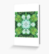 Green Succulent Mandala Greeting Card