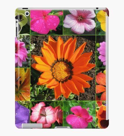 Sunlit Sommer Blumen Collage iPad-Hülle & Klebefolie