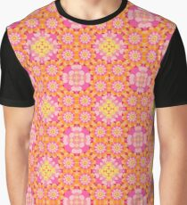 vintage colorful abstract art seamless repeat pattern Graphic T-Shirt