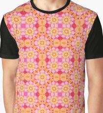 floral vintage abstract flowers seamless colorful repeat pattern Graphic T-Shirt