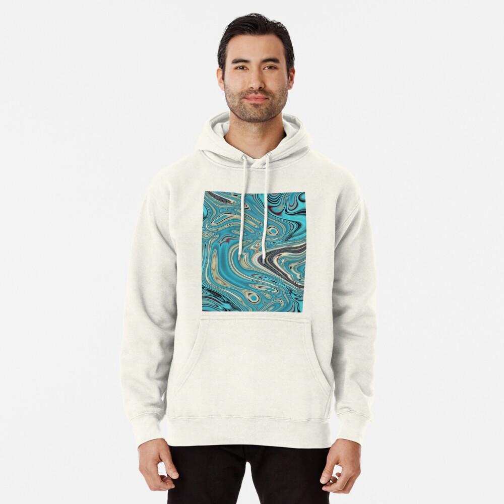 abstrakter Strandmarmormuster aquamariner Türkis wirbelt Hoodie