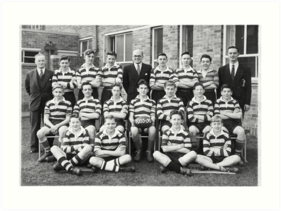 School Rugby Team 1955-56 Sheffield. by Trevor Kersley