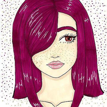 purple girl by Hardsara