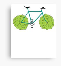 Hop Bike T-Shirt - Beer Bicycle Tee Shirt for a Cyclist Canvas Print