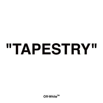"""Off White Inspired Tapestry - """"TAPESTRY"""" by catscollegecuts"""