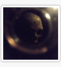 Lost Skull In Paris Catacombs  Sticker