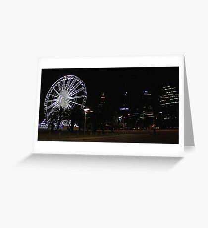Perth Wheel At Night  Greeting Card