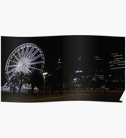 Perth Wheel At Night  Poster