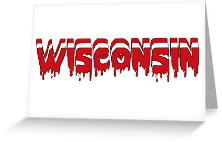 Wisconsin Dripping Letters