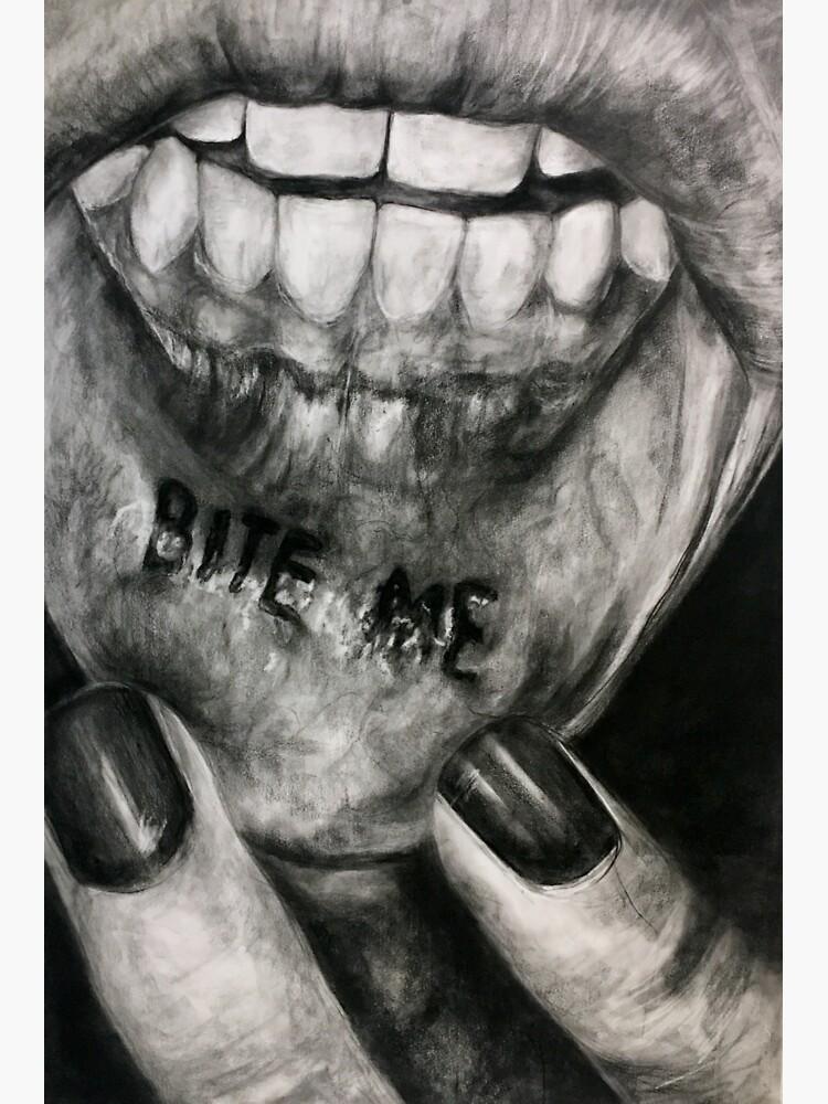 Bite Me Lip Tatt by smtomko