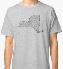 New York Shaped Maze  | Hand Designed by David Birkey | Albany / Buffalo / New York City / Rochester / Syracuse Classic T-Shirt