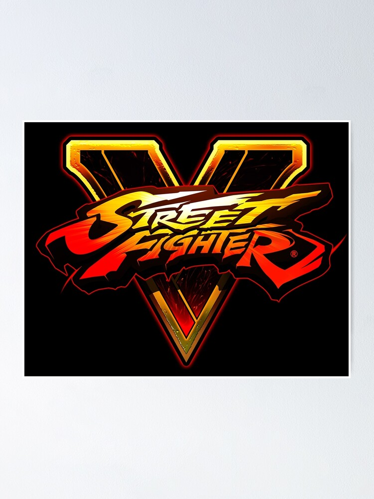 Street Fighter V Logo Design Poster By Rollermobster Redbubble 1995 alpha arcade capcom fighter logo street vector videogames. redbubble