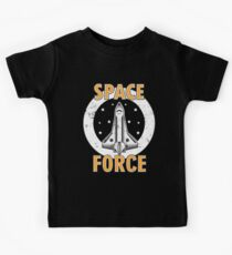 Space Force USA Vintage - Rocket Spaceship Kids Tee