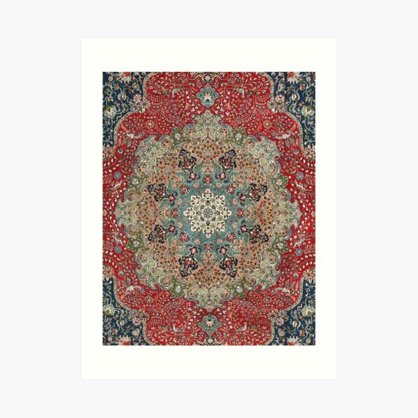 Vintage Antique Persian Carpet Print Art Print
