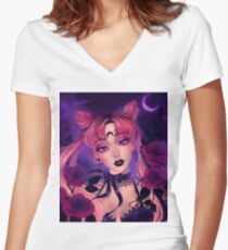 Wicked Lady Fitted V-Neck T-Shirt